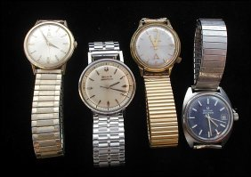 170: 3 Accutron Watches & 1 Omega Wrist Watch
