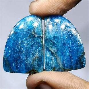 37.30 ct Natural Apatite Jasper Pair