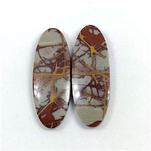 31.00 ct Natural Noreena Jasper Pair