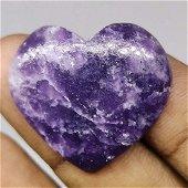 36.50 ct Natural Lapidolite Heart