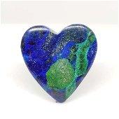 18.70 ct Top Grade Natural Azurite Heart