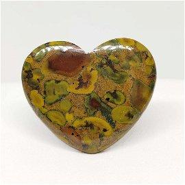 50.00 ct Natural Fruit Jasper Heart