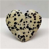 38.50 ct Natural Dalmatian Jasper Heart