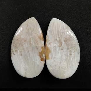 43.45 ct Natural Scolecite Crystal Pair