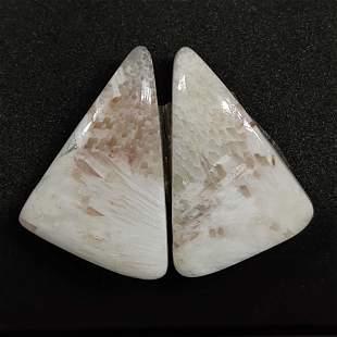 32.60 ct Natural Scolecite Crystal Pair