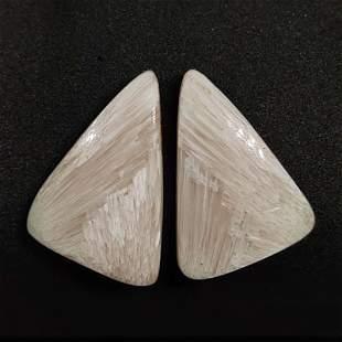 23.00 ct Natural Scolecite Crystal Pair