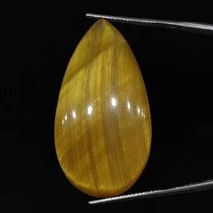 34.50 ct Natural Golden Tiger Eye