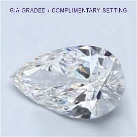 6 ct Loose PEAR Cut Diamond Color F VVS2 49% OFF