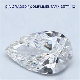 5.62 ct Loose PEAR Cut Diamond Color D FL -44% OFF