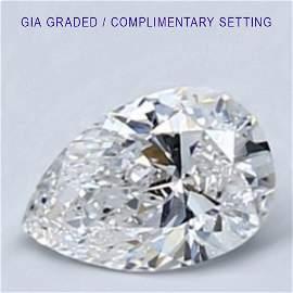 1.2 ct Loose PEAR Cut Diamond Color D FL 56% OFF
