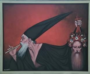 Rafael Coronel, Glicee on canvas