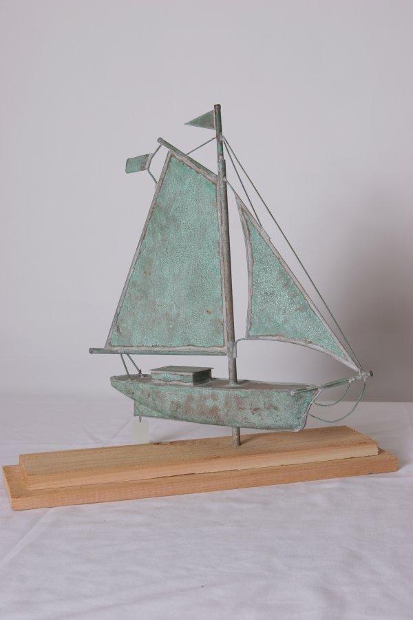4: Sailboat Weathervane. Probably 20th Century. Size: 2