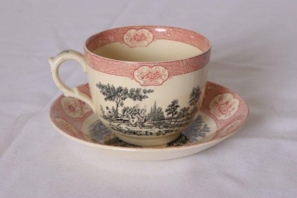 9: Adams Rose Terrace Mush Cup & Saucer. Both Pieces Ma