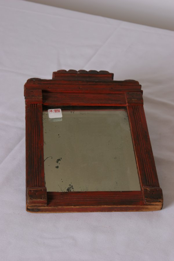 16: American Painted Country Mirror 19th Century: Bevel