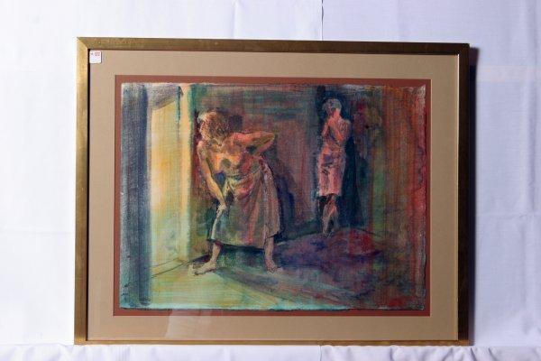 """24: Frank Stack Watercolor on Paper. Bordello Scene 26"""""""