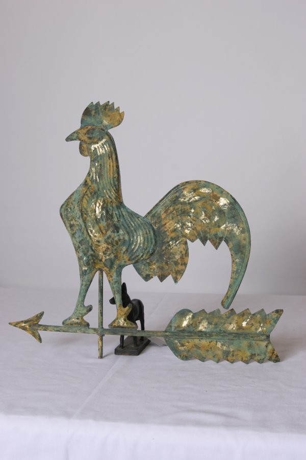 """43: Rooster Weathervane. Probably Fisk N.Y.. Size: 22"""""""