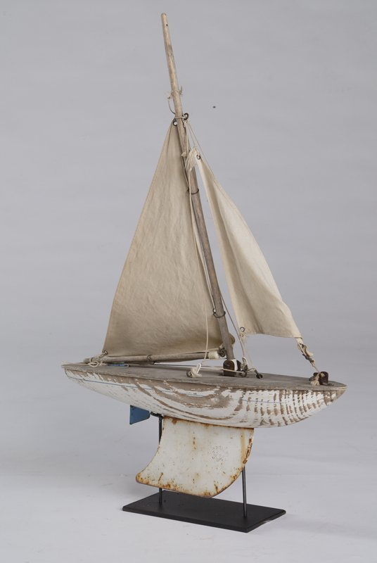 4: Wooden Pond Boat, Circa 1930