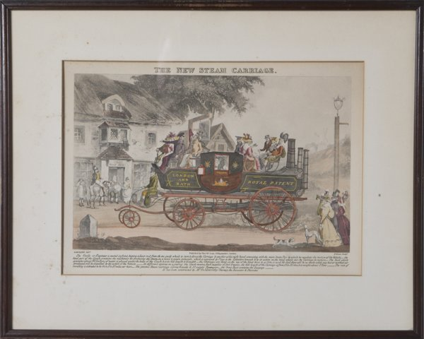 17: Hand Colored Litho of The New Steam Carriage