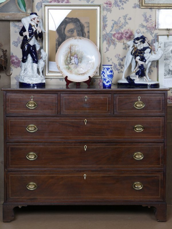102: Inlaid Chest of Drawers, 18th or Early 19th Centur