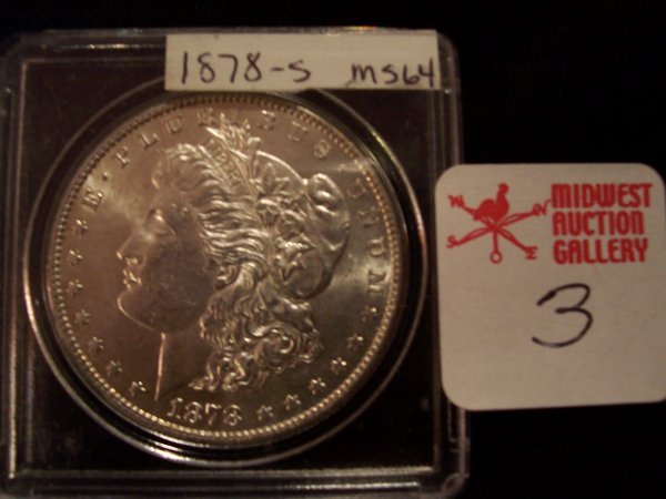 3: Morgan Silver Dollar, 1878 S