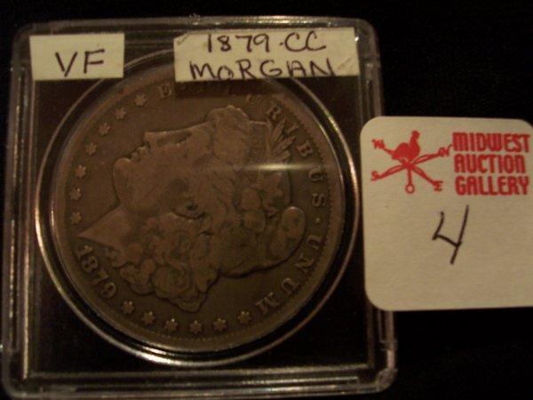 4: Morgan Silver Dollar, 1879 CC