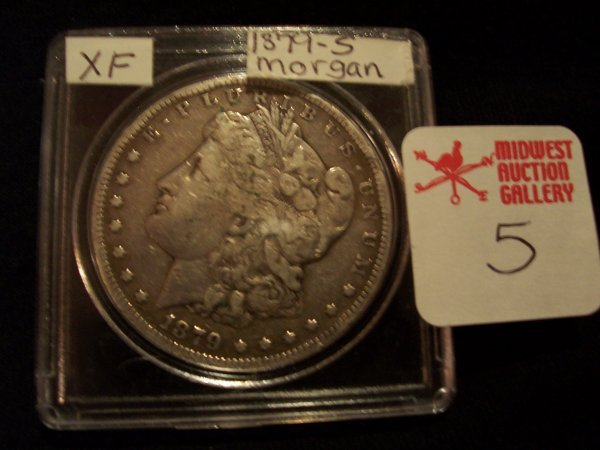 5: Morgan Silver Dollar, 1879 S