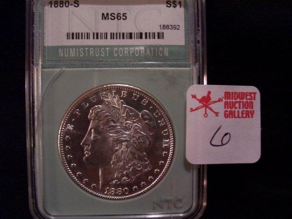 6: Morgan Silver Dollar, 1880 S