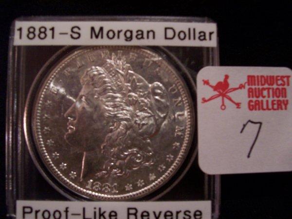 7: Morgan Silver Dollar, 1881 S
