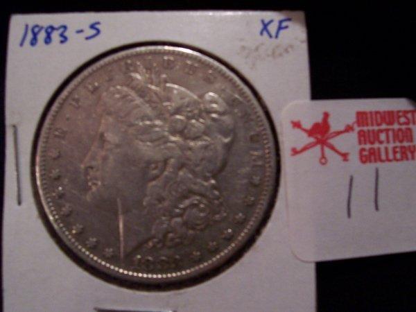 11: Morgan Silver Dollar, 1883 S