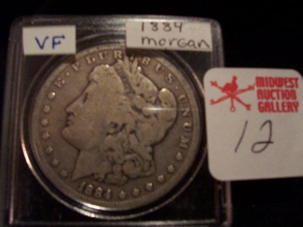 12: Morgan Silver Dollar, 1884