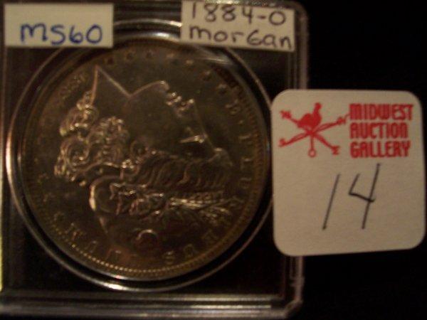 14: Morgan Silver Dollar, 1884 O