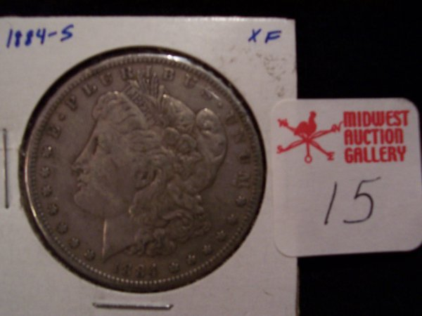 15: Morgan Silver Dollar, 1884 S