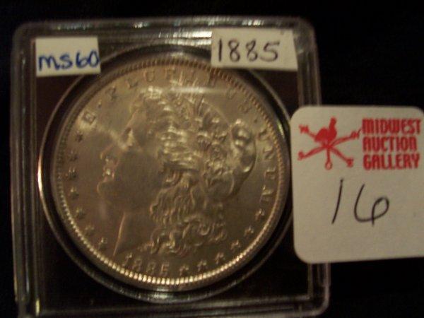 16: Morgan Silver Dollar, 1885