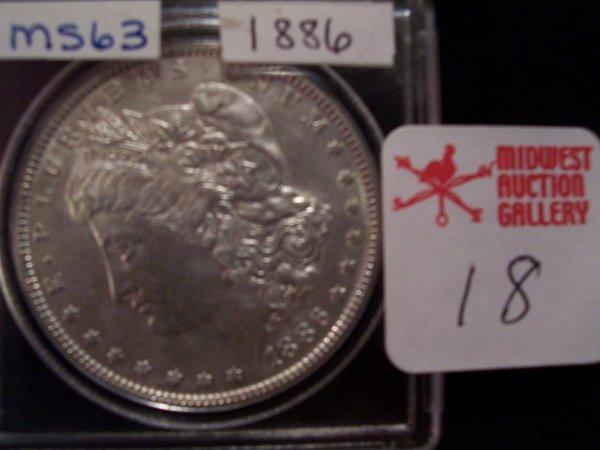 18: Morgan Silver Dollar, 1886