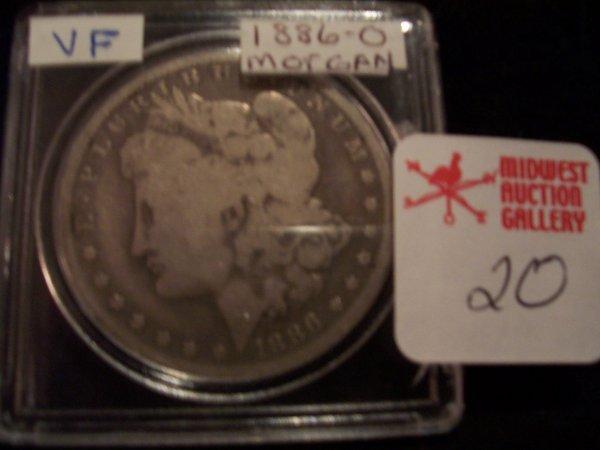 20: Morgan Silver Dollar, 1886 O