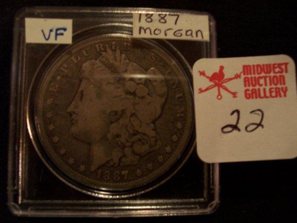 22: Morgan Silver Dollar, 1887