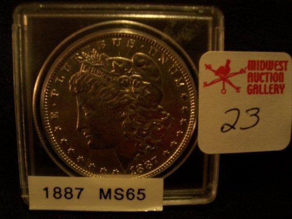 23: Morgan Silver Dollar, 1887