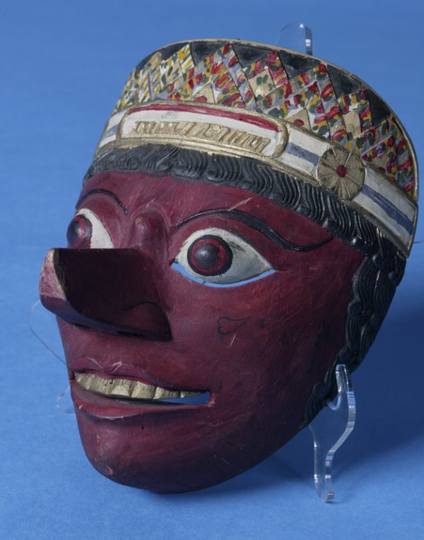 2: Mid 20th Century Carved Wooden Thailand Wood Mask