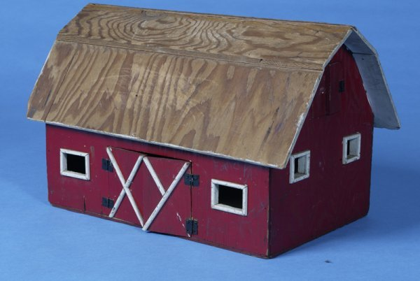 4: Mid 20th Century Hand-made Wooden Childs Toy Barn