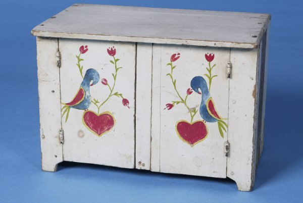 21: Early 20th Century Hand Painted Childs cupboard