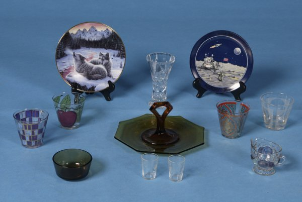401: 12 Various Glass & China Table Articles