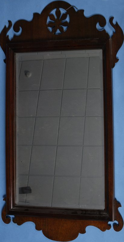 412: Mid 20th Century Chippendale Style Wall Mirror
