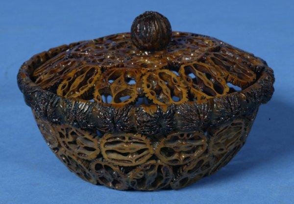 415: Hand-made 19th Century Walnut Shell Bowl