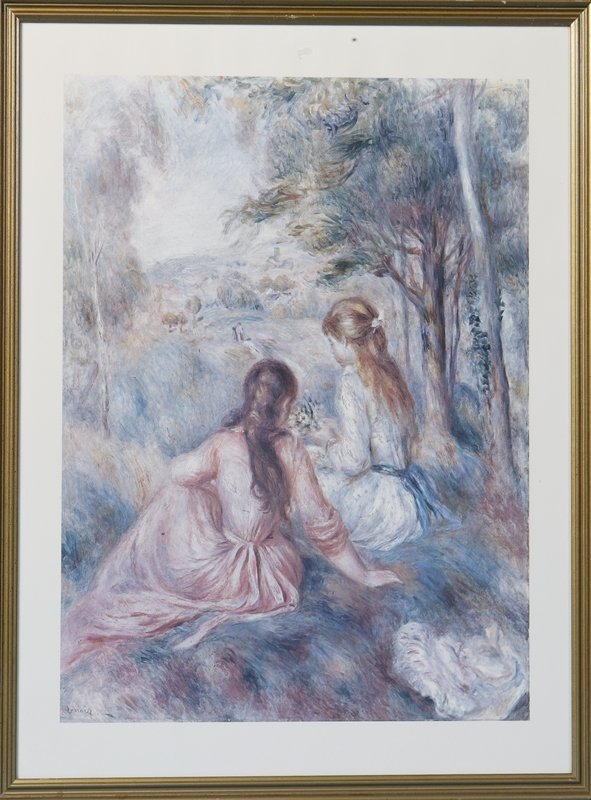 418: Late 20th C. Replica Litho of a Renoir Painting