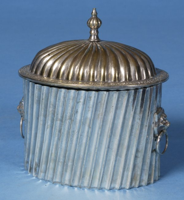 419: 20th Century Silver-Plated English Biscuit Keeper