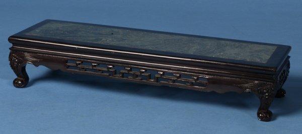 423:  Marble &  Lacquer Oriental Platform Circa 1940