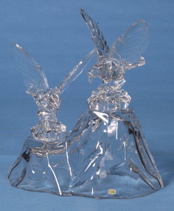 Late 20th C. Val St.' Lambert Crystal Sculpture