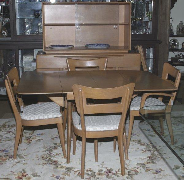 518: Mid 20th Century Haywood Wakefield Dining Suite