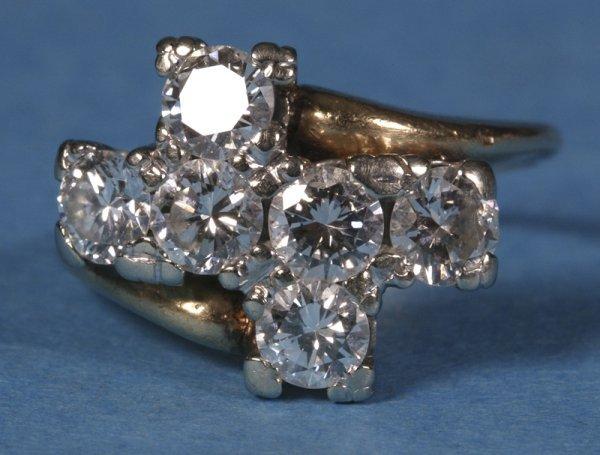 565: Ladies 14k Yellow Gold & White Gold Ring