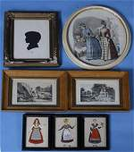 732: 7 Various Framed Pictures